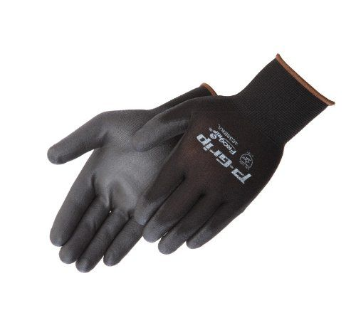 Liberty P-Grip Ultra-Thin Polyurethane Palm Coated Glove with 13-Gauge Nylon/Polyester Shell, X-Small, Black (Pack of 12)