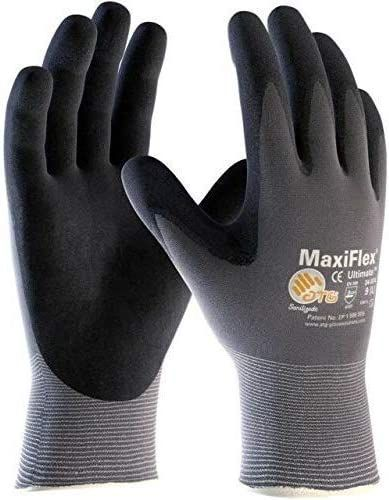 Maxiflex (3 Pairs 34-874/XXS Gloves Nitrile Micro-Foam Grip Palm & Fingers - Excellent Grip and Abrasion Resistance - Seamless Nylon with Lycra Liner (Size-XXS/3 Pairs)