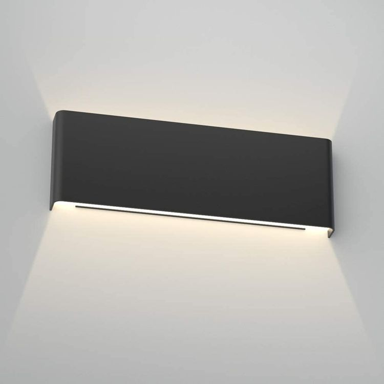 Aipsun 15.8in Modern Black Vanity Light Up and Down LED Vanity Light for Bathroom Wall Lighting Fixtures Neutral White 4000K