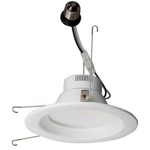 """Morris Products LED Recessed Lighting Retrofit Kits – for Recessed Downlighting, Alternative to Incandescent Lights – Energy Efficient, Dimmable - Smooth Bezel, 4000K, 12 Watts, 5"""" & 6"""""""