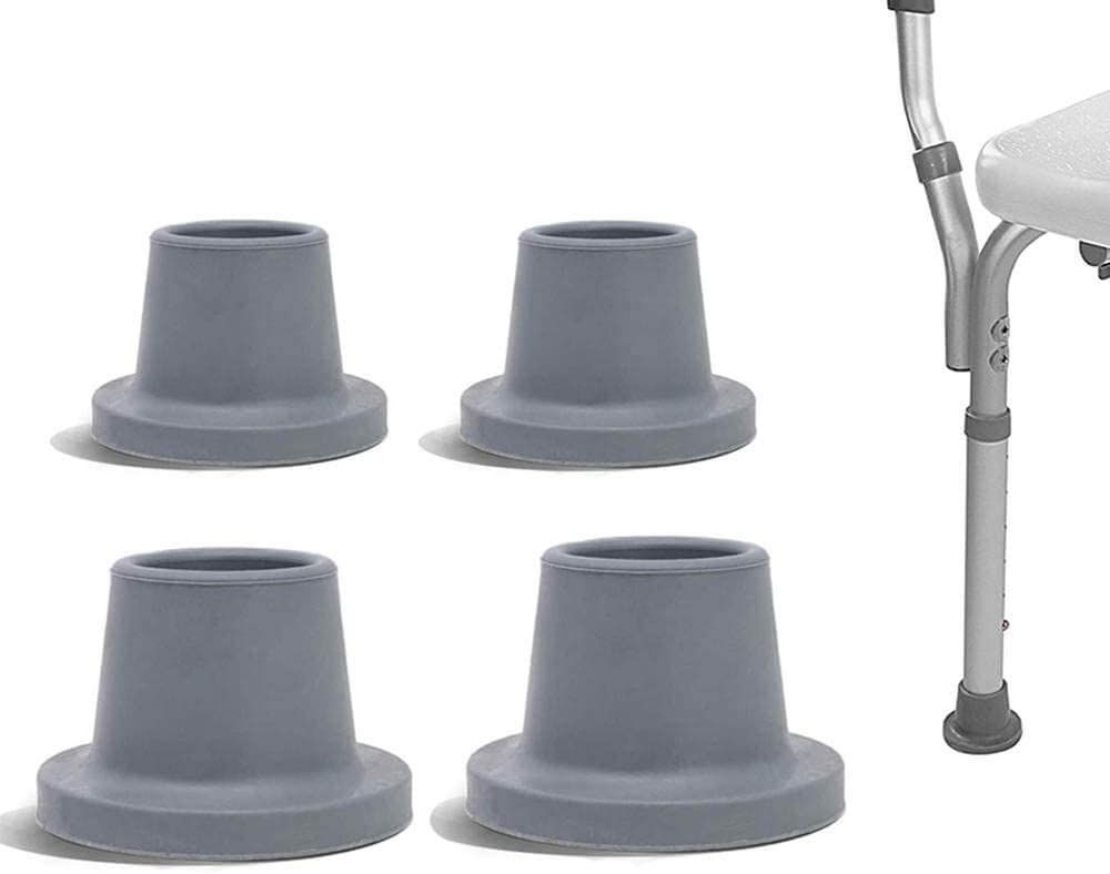 """4Pcs Shower Chair Replacement Parts for Non Slip Shower Bench,Fits 1-1/8"""" Tubing"""