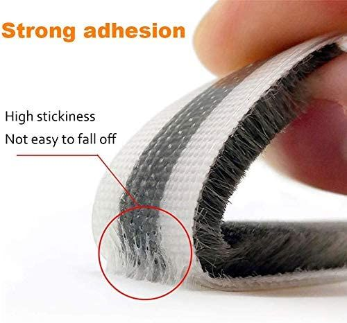 32.8 Ft Self Adhesive Seal Strip Weatherstrip for Windows and Doors House Soundproofing,Windproof,Dustproof,Stronger Stickiness,0.35 Wide X 0.2 inch Thick.