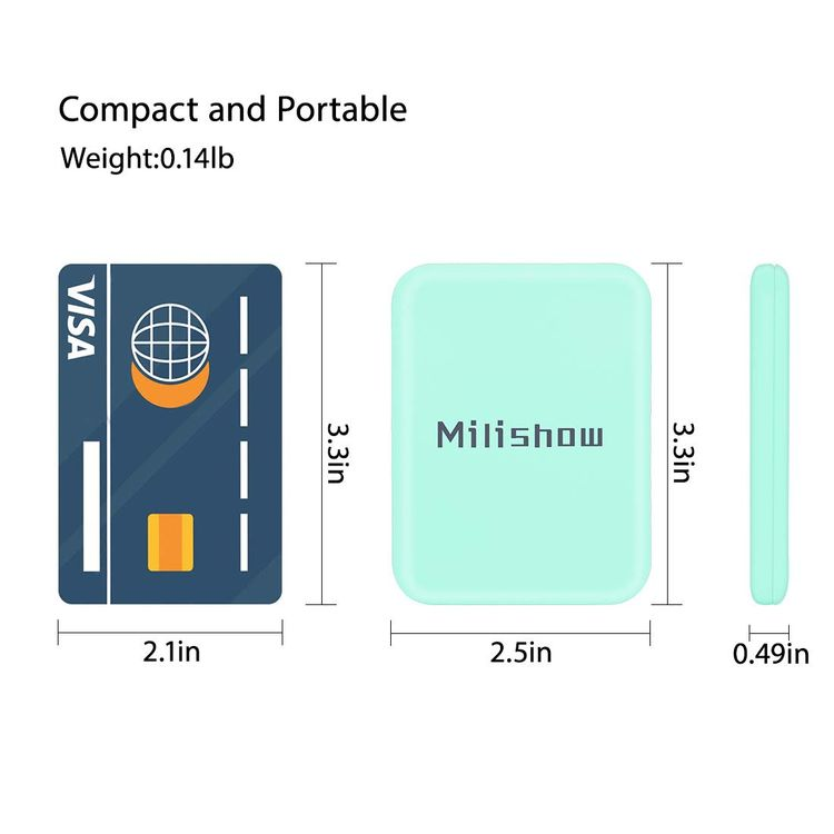 Milishow Compact Mirror with LED Light,1x/3x Magnifying Mirror, Lighted Travel Mirror for Purse,Handbag,Pocket,Handheld 2-Sided Makeup Mirror (Cyan)