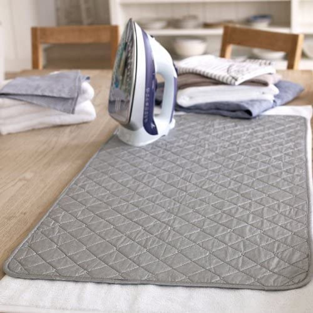 Portable Ironing Mat Blanket (Iron Anywhere) Ironing Board Replacement, Iron Board Alternative Cover