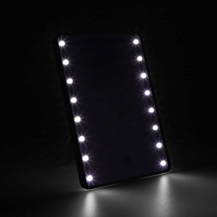 Makeup Mirror for Women and Men, Table Detachable 10X Magnification Vanity Mirror with 16 LED Lights,Touch Screen,Light Adjustable Dimmable Make up Mirrors for Home Tabletop Bathroom Shower Travel