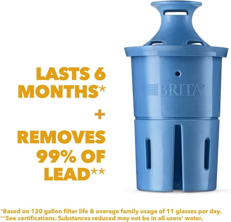 Brita Longlast Plus Pitcher and Dispenser Replacement Water Filters, 1 Count