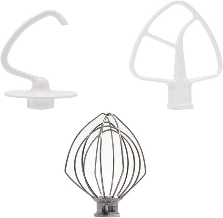 K45DH&K45WW&K45B by AMI PARTS K45DH Dough Hook&K45WW Wire Whip&K45B Coated Flat Blade Paddle with Scraper, 3 Pieces Stand Mixers Repair Set