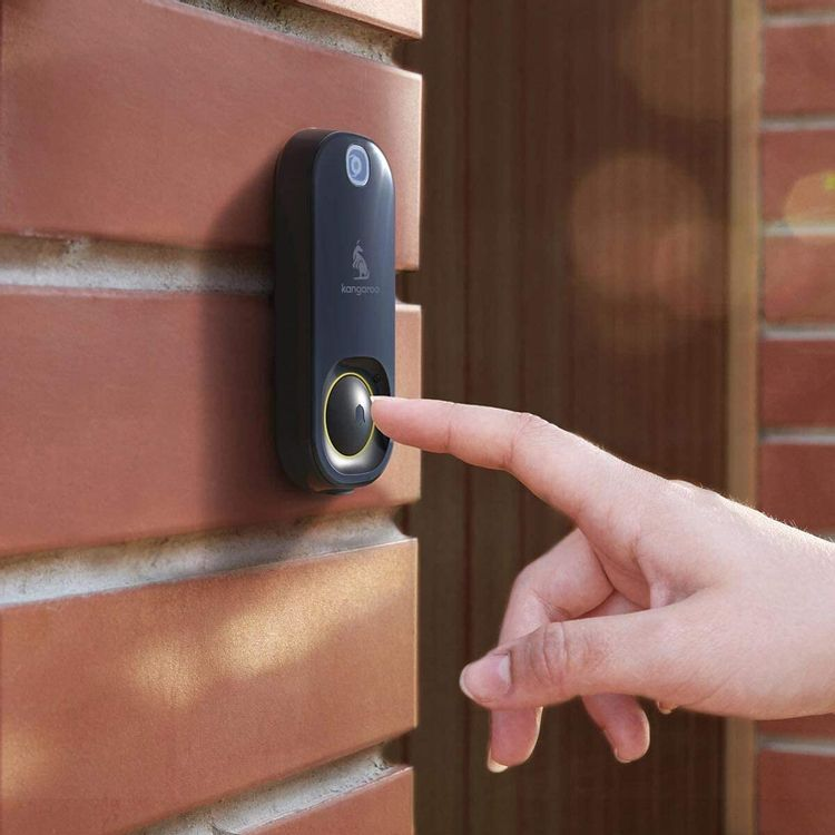 Kangaroo Smart Doorbell Camera + Indoor Chime   Photograph Motion at the Door   Photo Push Notifications   Photo Capture of Guests & Package Deliveries   WiFi Required   Hardware Only