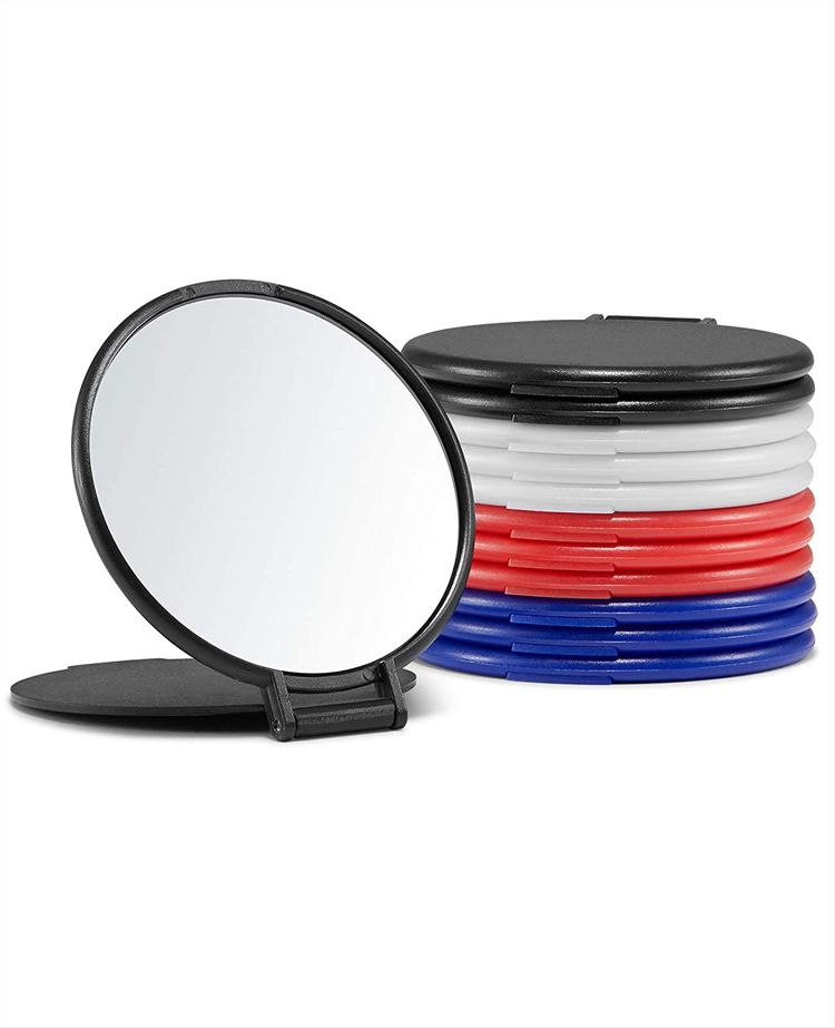 Compact Mirror Bulk, Round Makeup Mirror for Purse, Set of 12 (4-Color)