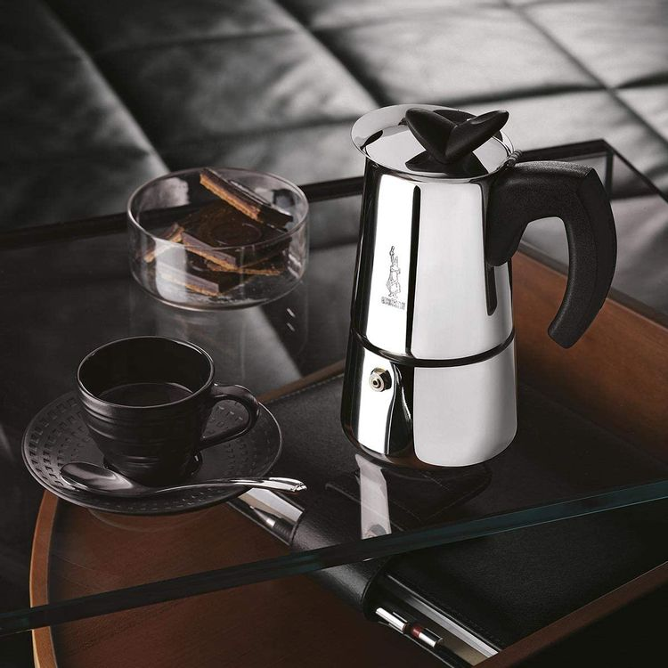 Bialetti Musa Restyling Moka Pot (Coffee Maker), 2-Cup, Suitable for Induction, Stainless Steel