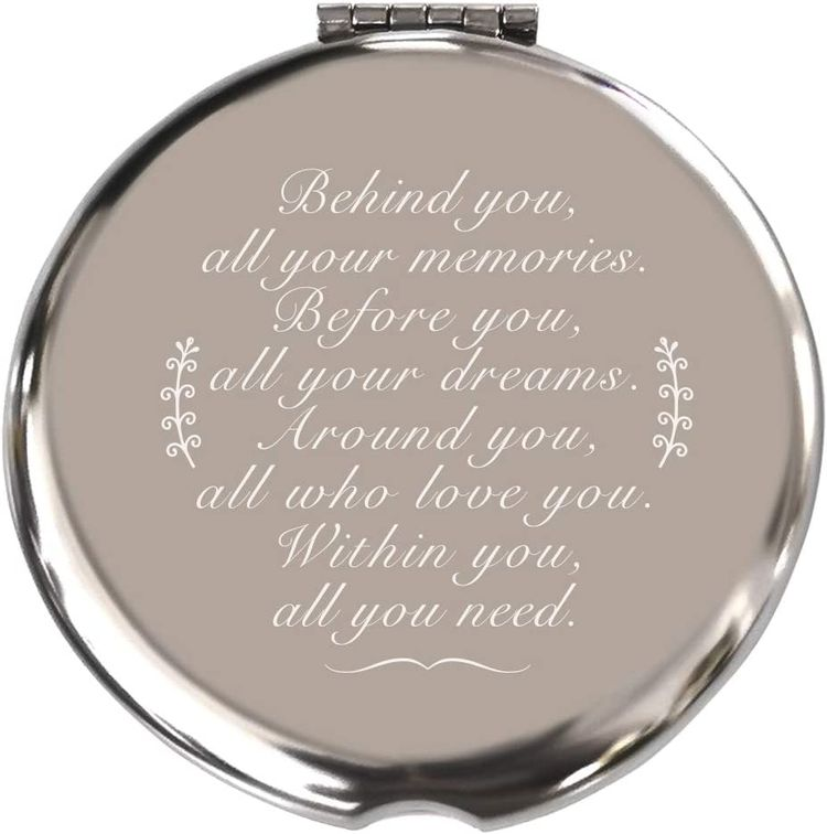 Coworker Leaving Gifts for Women Graduation Gifts for Her Travel Gifts for Women Farewell Gifts for Women Graduation Gifts for Her,Travel Mirror Silver