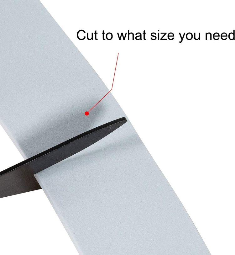 Weather Stripping Tape-2 Rolls, 1 Inch Wide X 1/8 Inch Thick White High Density Soundproofing Door Insulation AC Unit Weather Seal Total 33 Feet Long(16.5ft x 2 Rolls)