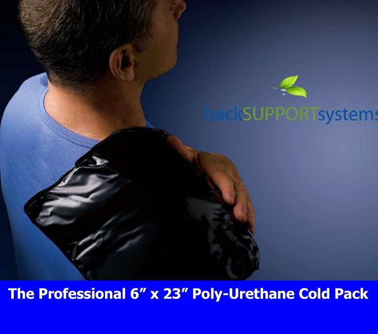 """Back Support Systems Professional Cold Pack - Professional Medical Grade for All Injuries (6""""x 23"""" Hot & Cold Pack)"""