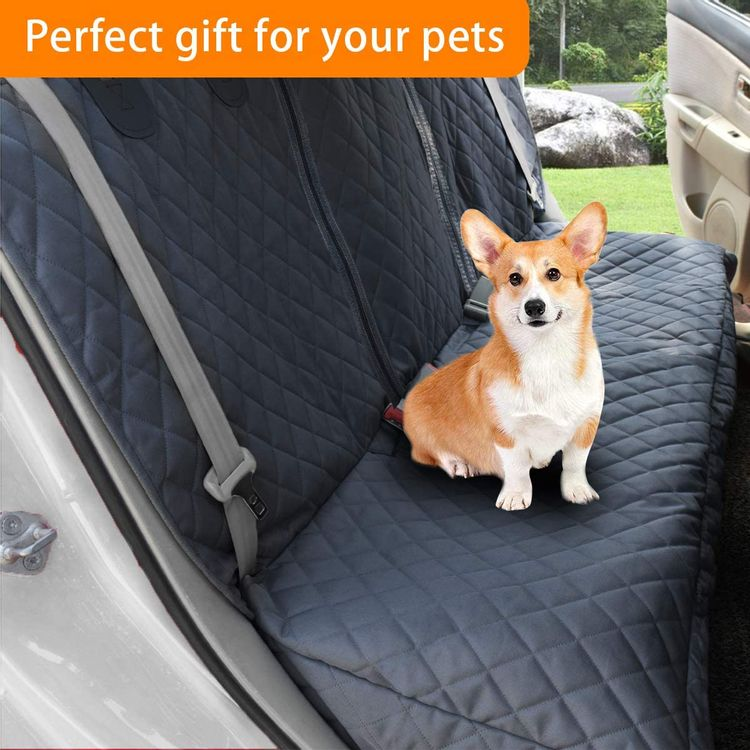Honest Bench Dog Car Seat Covers with Side Flap,Dog seat Cover for Cars, Trucks, and Suv's - Waterproof & Nonslip Pet Seat Cover for Backseat