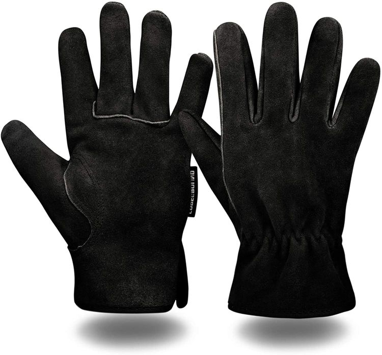 COREGROUND Leather Safety Work Gloves Gardening Carpenter Thorn Proof Truck Driving for Mens and Womens Waterproof heavy duty