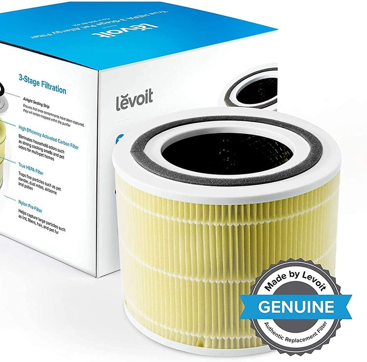 LEVOIT Core 300 Air Purifier Replacement Filter, 3-in-1 Pre-Filter, True HEPA Filter, High-Efficiency Activated Carbon Filter, Core 300-RF (Pet Allergy)