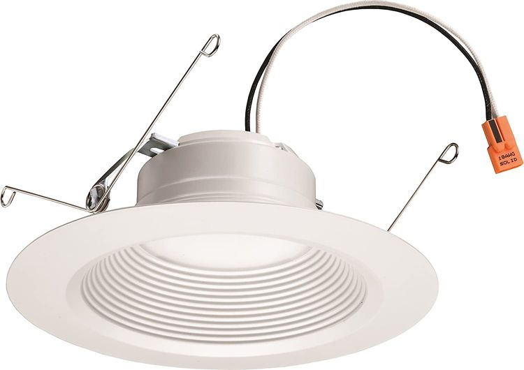 Lithonia Lighting 5/6 Inch White Retrofit LED Recessed Downlight, 12W Dimmable with 3000K Bright White, 835 Lumens