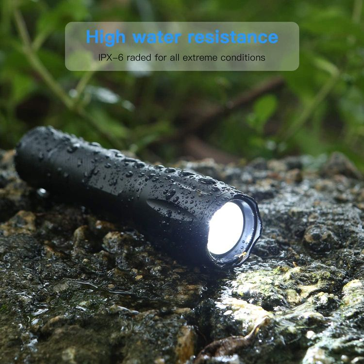 Flashlights, LED Tactical Flashlight S1000 - High Lumen, 5 Modes, Zoomable, Water Resistant, Handheld Light - Best Camping/Outdoor/Hiking/Flashlights/Gift-Giving/Emergency(Batteries Not Included)
