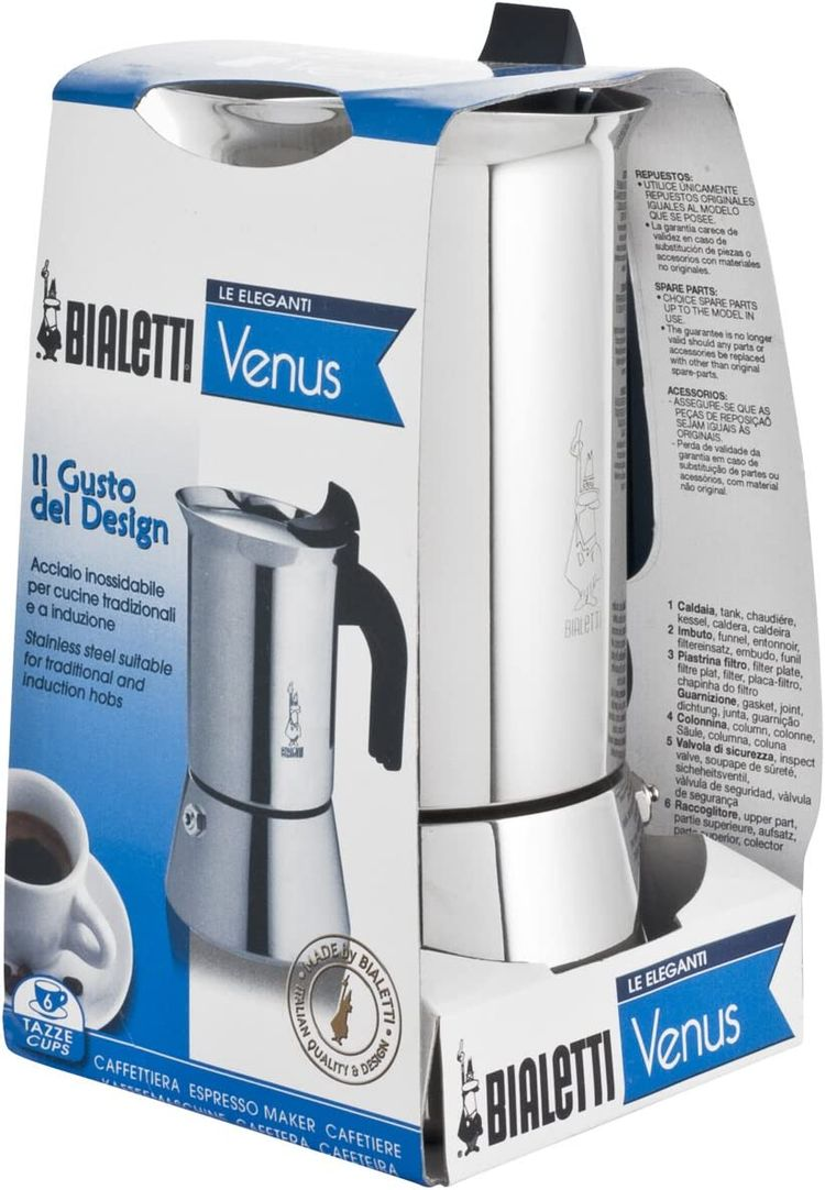 Bialetti 6356Cafetiere, Stainless Steel, Grey
