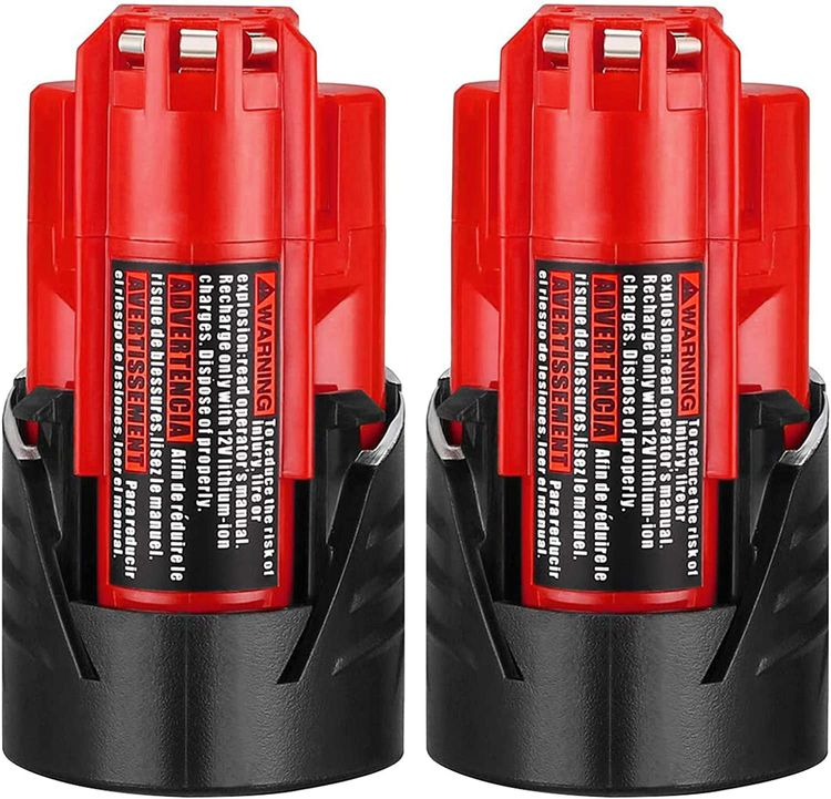 ADVTRONICS 2 Pack 12V 3.0Ah Lithium-ion Battery Compatible with Milwaukee M12 48-11-2411 48-11-2420 48-11-2401 48-11-2402 48-11-2401 Milwaukee 12-Volt M12 Cordless Tools