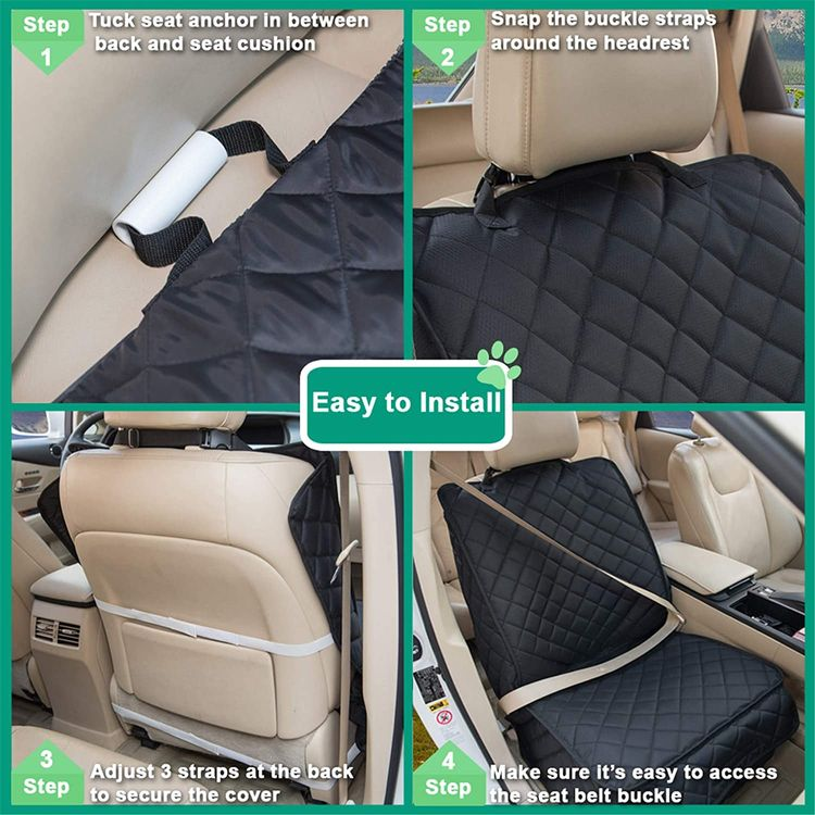 HAPYFOST Waterproof Front Seat Cover Dog Car Seat Covers Nonslip and Full Protection with Side Flaps Fits Most Cars, Trucks, SUVs