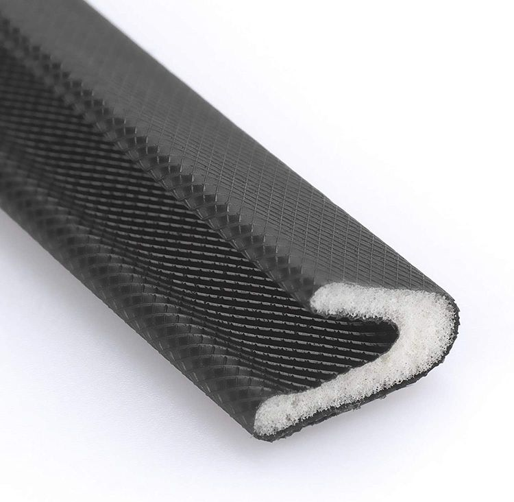 V Shape Weather Stripping, 1/2 Inch Wide X 26 Feet Long, Adhesive Weather Strip Door Frame Seal PU Foam Strip Weather Seal Door Insulation Anti Collision Soundproof (Black)