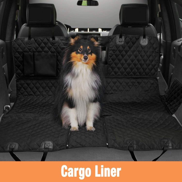 PETICON Dog Car Seat Covers for Back seat, Nonslip Durable Soft Pet Back Seat Bench Covers for Cars Trucks and SUVs, Waterproof Scratchproof Hammock for Dogs Backseat Protection