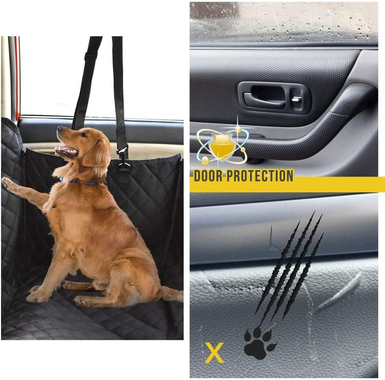 Vailge Dog Seat Cover for Back Seat, 100% Waterproof Dog Car Seat Covers with Mesh Window, Scratch Prevent Antinslip Dog Car Hammock, Car Seat Covers for Dogs, Dog Backseat Cover for Cars ,X-Large