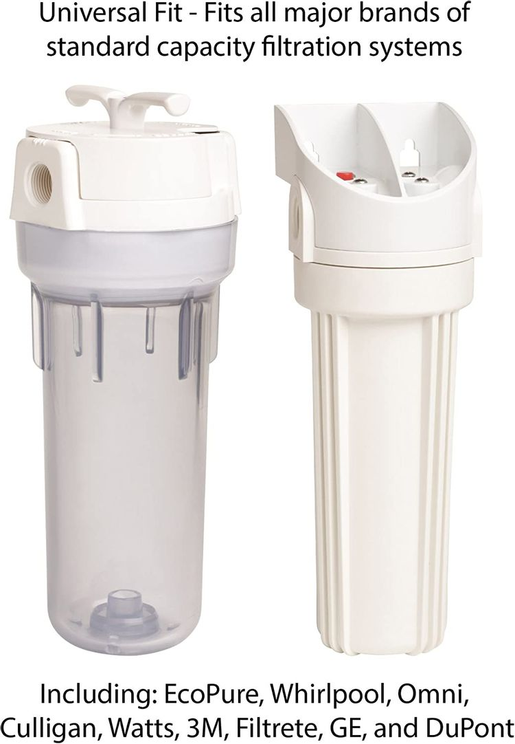 EcoPure EPW2P Pleated Whole Home Replacement Water Filter-Universal Fits Most Major Brand Systems (2 Pack), White/Blue