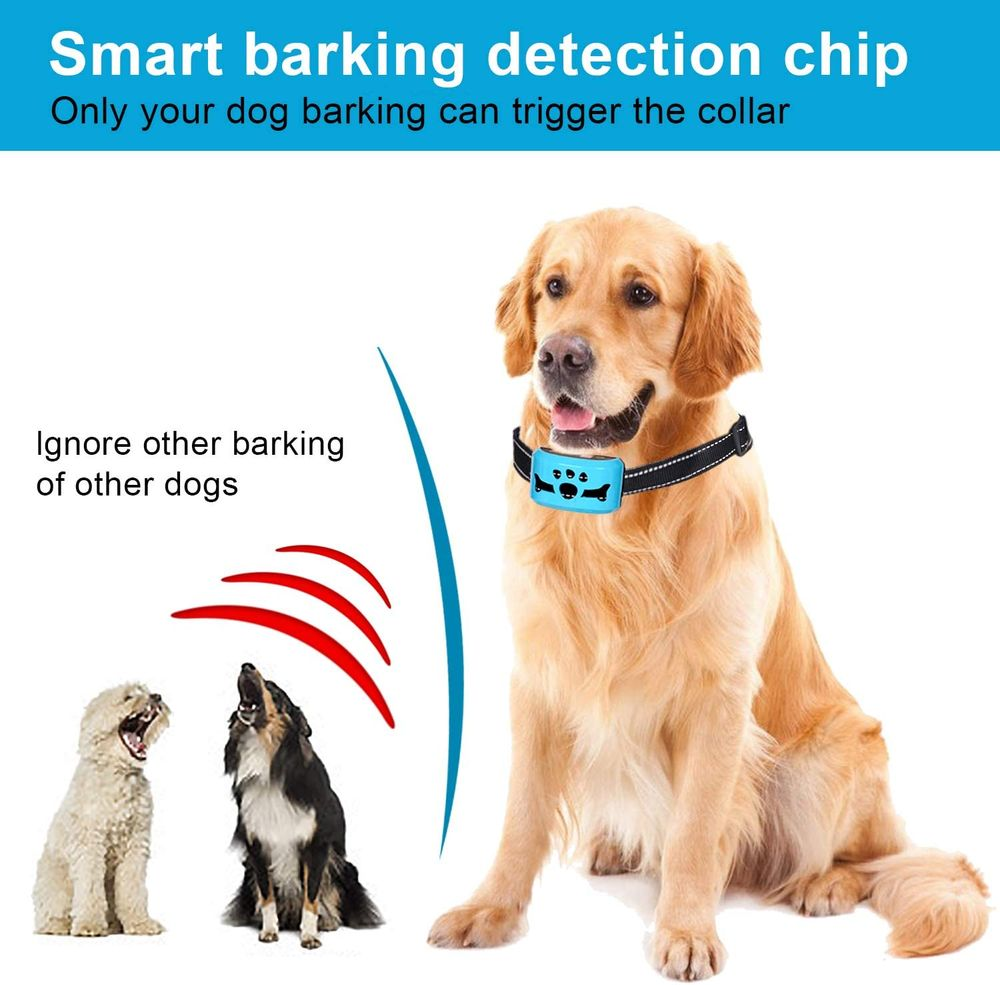 Bark Collar for Dogs,Rechargeable Anti Barking Training Collar with 7 Adjustable Sensitivity and Intensity Beep Vibration for Small Medium Large Dogs