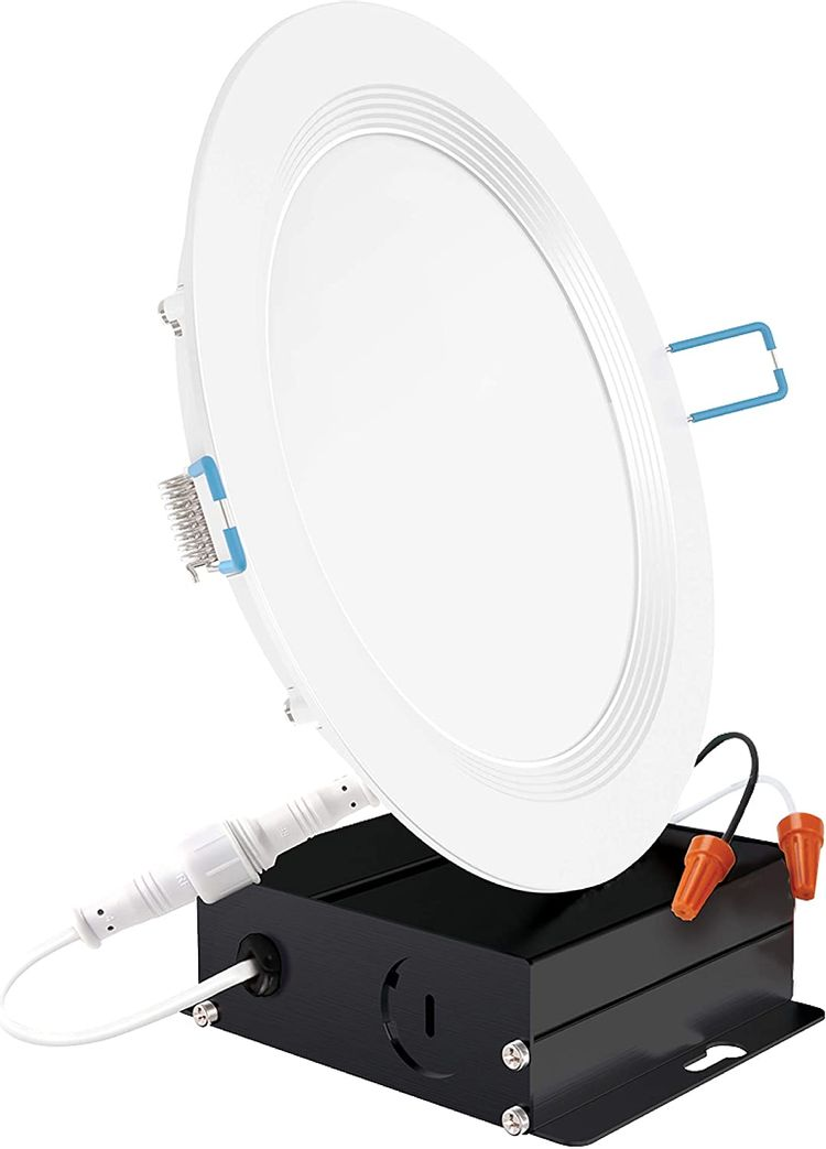 Sunco Lighting 6 Inch Slim LED Downlight, Baffle Trim, Junction Box, 14W=100W, 850 LM, Dimmable, 2700K Soft White, Recessed Jbox Fixture, IC Rated, Retrofit Installation - ETL & Energy Star
