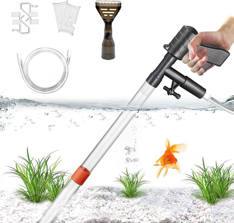 STARROAD-TIM Fish Tank Gravel Cleaner Newly Upgraded Fish Tank Water Changer with Air Pressure Button Long Nozzle Water Flow Controller for Fish Tank Cleaning Gravel and Sand