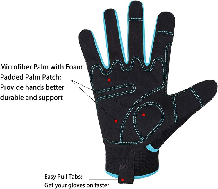 Synthetic Leather Work Safety Gloves for Men&Women,Mechanic Working Gloves Touchscreen