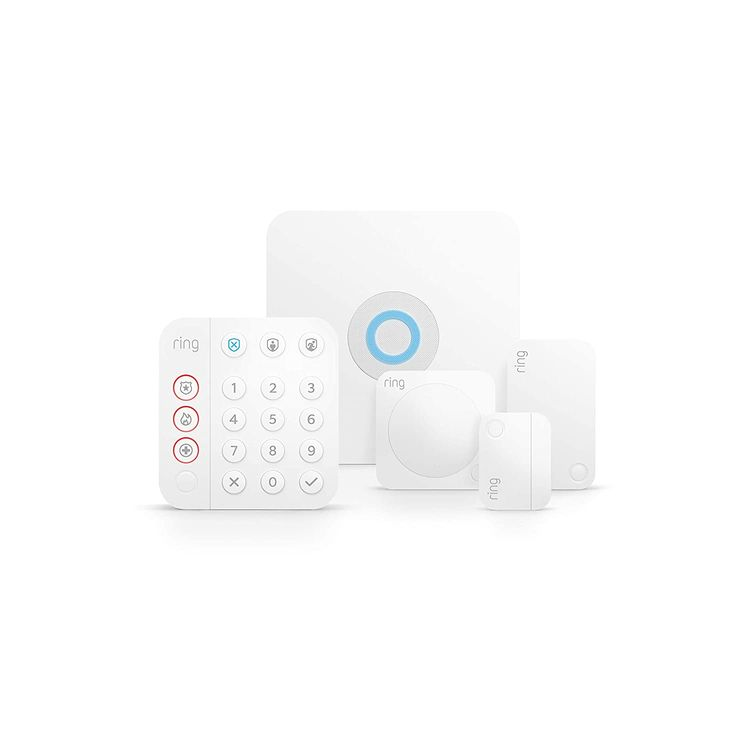 Ring Alarm 5-piece kit (2nd Gen) – home security system with optional 24/7 professional monitoring – Works with Alexa