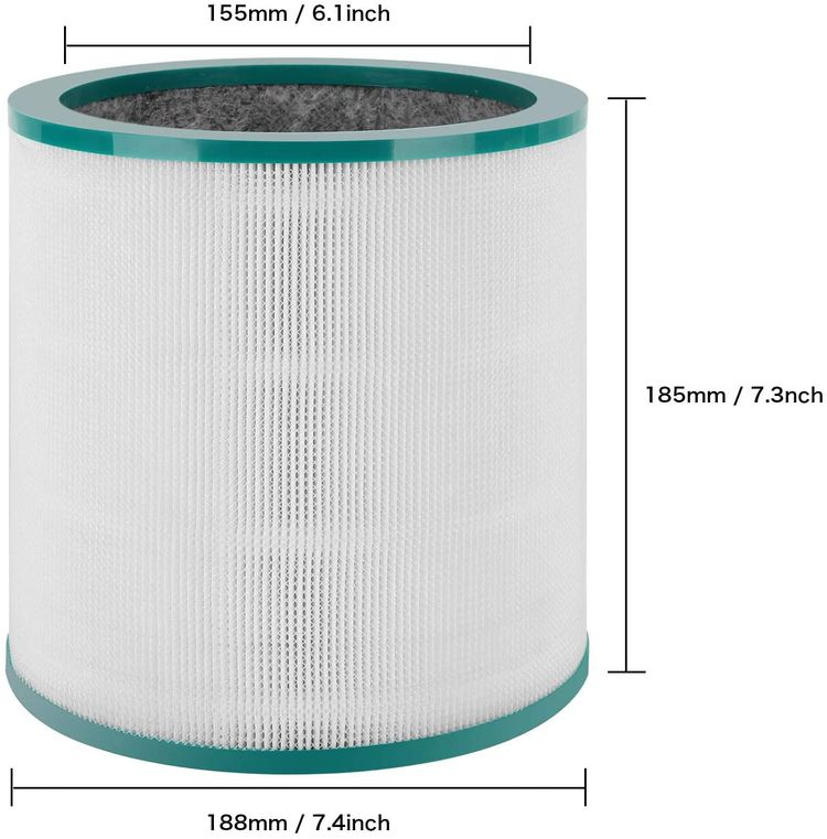Colorfullife Replacement Air Purifier Filter for Dyson Tower Purifier Pure Cool Link TP01, TP02, TP03, BP01, Compare to Part 968126-03