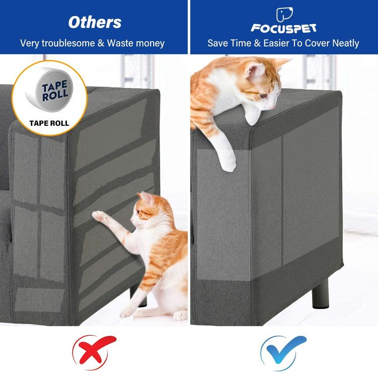 """FOCUSPET Furniture Protectors from Cats, Cat Scratch Deterrent Sheet 
