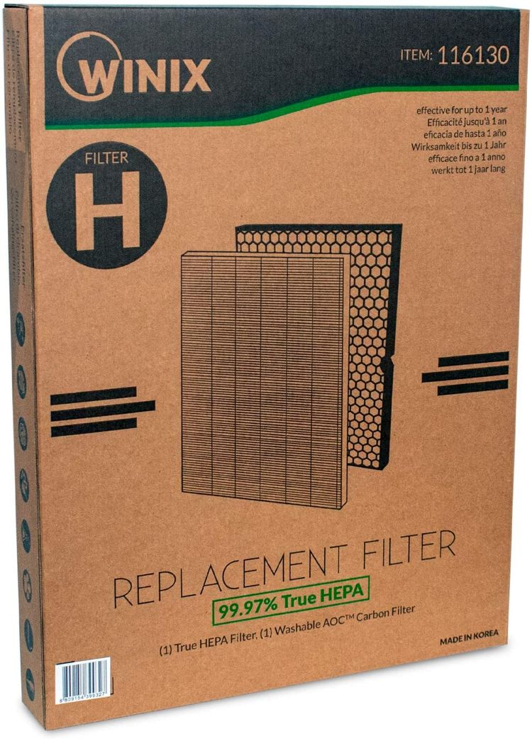 Genuine Winix 116130 Replacement Filter H for 5500-2 Air Purifier , White