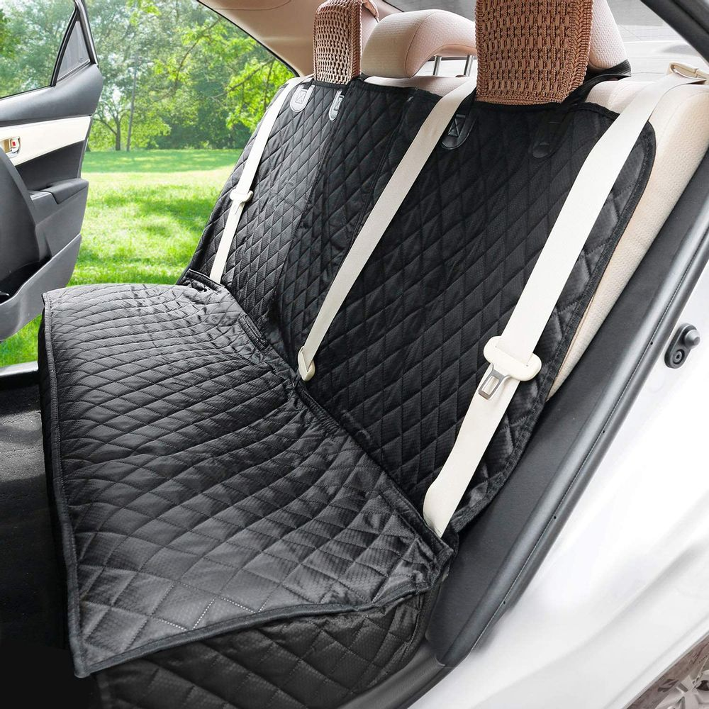 Dog Car Seat Covers for Back seat, Nonslip Durable Soft Pet Back Seat Bench Covers for Cars Trucks and SUVs, Waterproof Scratchproof Hammock for Dogs Backseat Protection