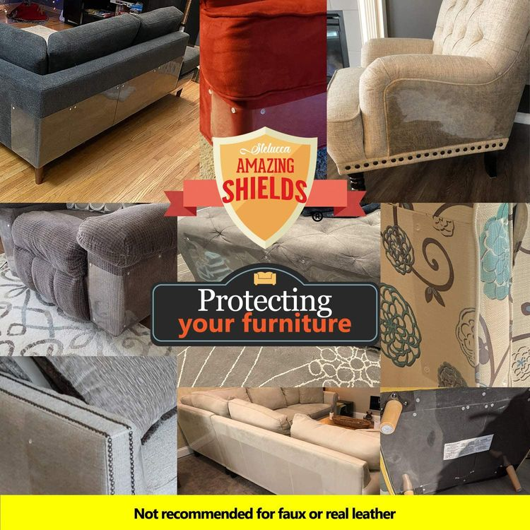 Stelucca Amazing Shields Furniture Protectors from Cats - Cat Repellent for Furniture - Cat Scratch Deterrent - Cat Couch Protector - Scratch pad - Cat Couch - Cat Scratcher - Cat Training Tape
