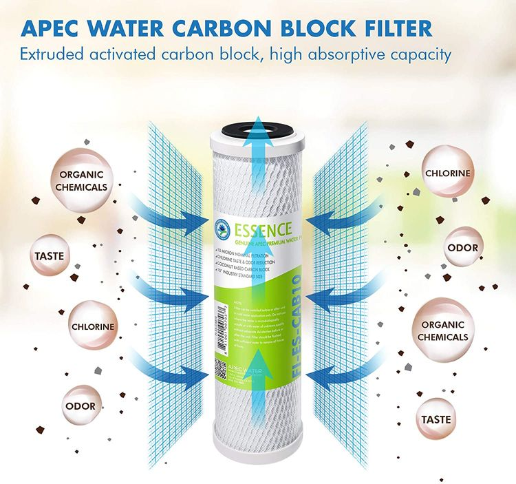 APEC Water Systems FILTER-SET-ES High Capacity Replacement Pre-Filter Set For Essence Series Reverse Osmosis Water Filter System Stage 1-3