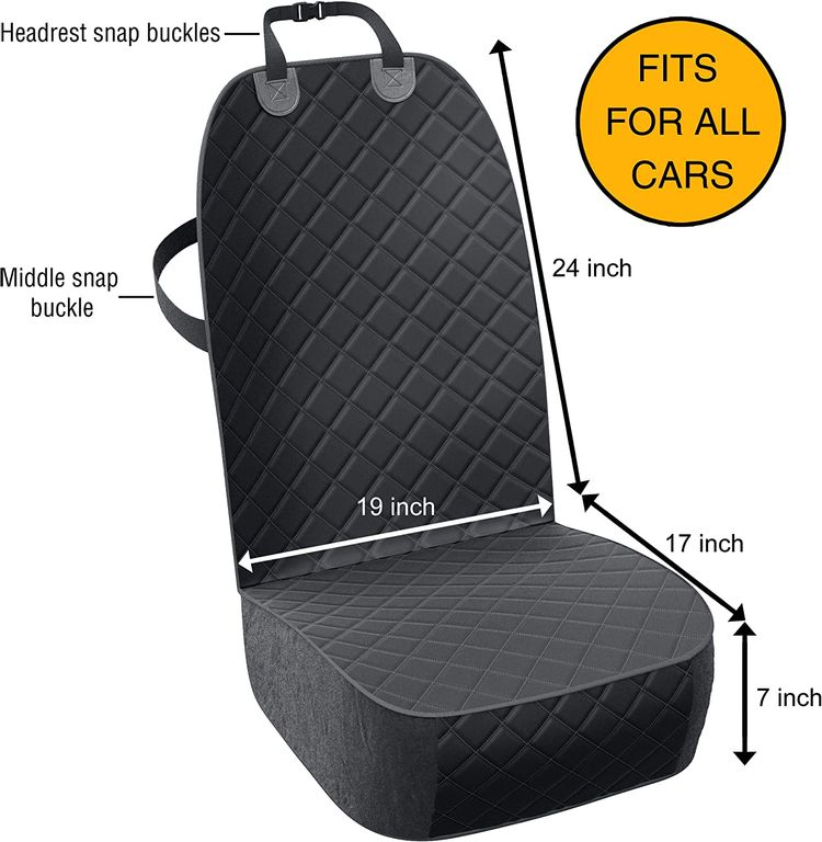 Active Pets Front Seat Dog Cover, Durable Protector Against Mud & Fur Waterproof, Scratch Proof & Nonslip Seat Pet Cover -Dog Car Seat Cover for Front Seat for Cars, Trucks & SUVs
