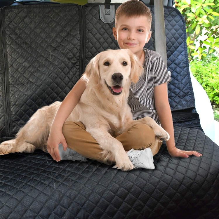 Vailge Bench Dog Car Seat Cover for Back Seat, 100% Waterproof Dog Car Seat Covers, Heavy-Duty & Nonslip Back Seat Cover for Dogs,Washable & Compatible Pet Car Seat Cover for Cars, Trucks & SUVs