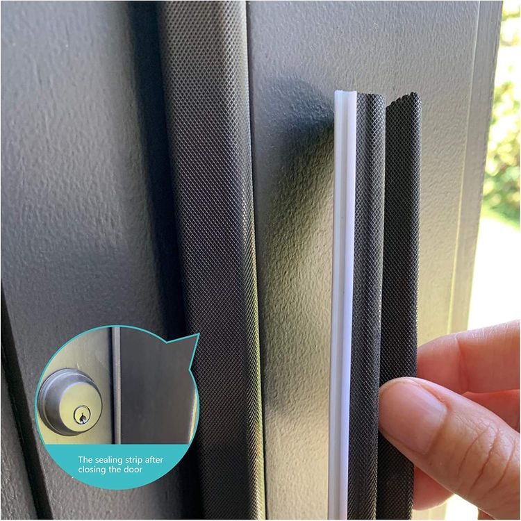 """""""Q"""" Foam Weather Stripping Seal Strip for Doors/Windows 26 Feet, Self-Adhesive Backing Seals Large Gap, Easy Cut to Size"""