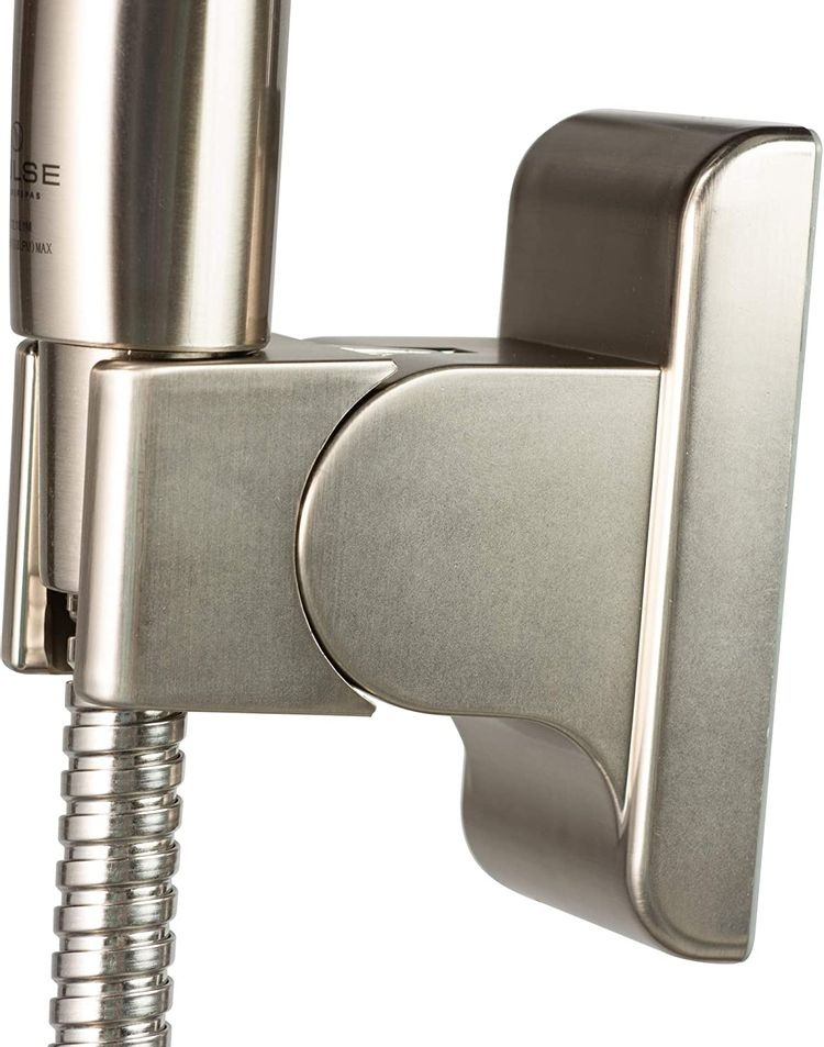 """PULSE ShowerSpas 1053-BN Oasis Shower System with 5-Function 7"""" Showerhead, 6-Function Hand Shower, Brushed Nickel Finish"""
