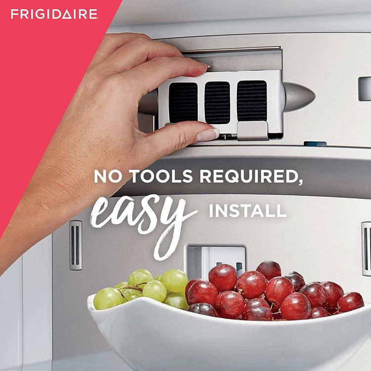 """Frigidaire PAULTRA2 Pure Air Ultra II Refrigerator Air Filter with Carbon Technology to Absorb Food Odors, 3.8"""" x 1.8"""" , White"""