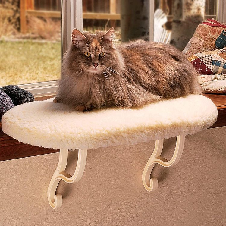 K&H Pet Products Kitty Sill Cat Window Heated/Unheated Hanging Bed and Hammock