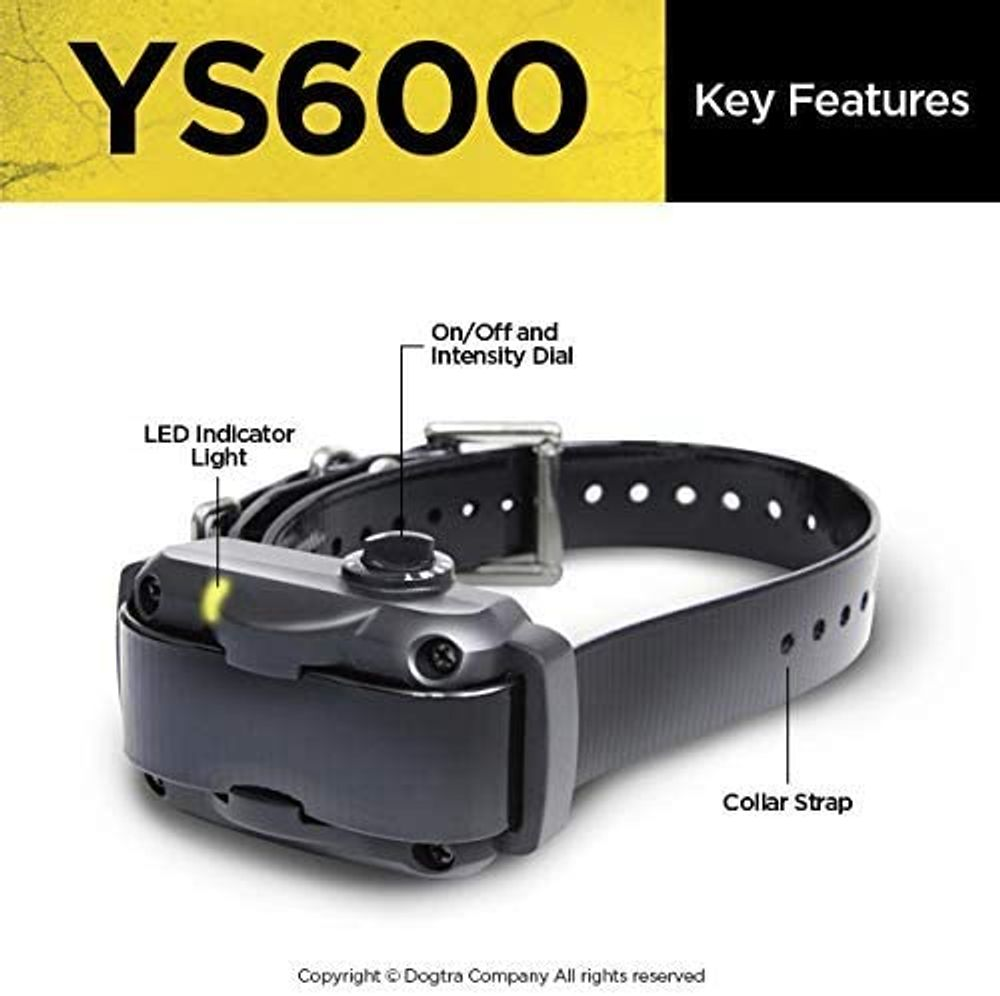 Dogtra YS600 Rechargeable Waterproof High-Output No Bark Collar