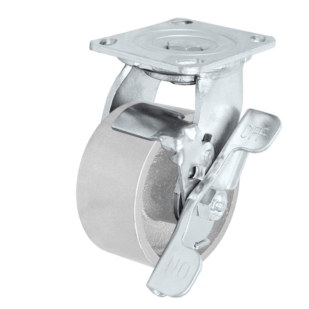 """CasterHQ - 4"""" x 2"""" Steel Wheel Casters 