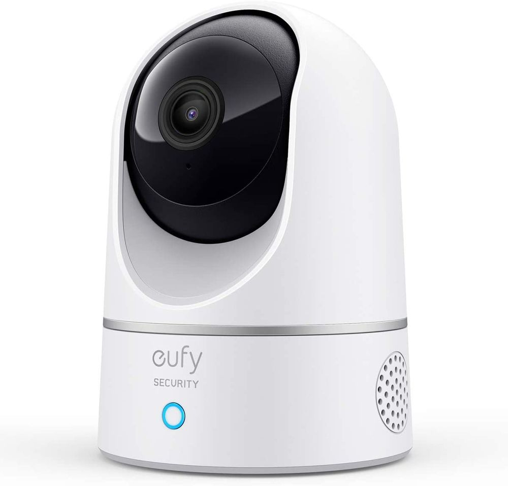 eufy Security Solo IndoorCam P24, 2K Pan & Tilt Security Indoor Camera, Plug-in Camera with Wi-Fi, Human & Pet AI, Voice Assistant Compatibility, Night Vision, Motion Tracking, HomeBase not Compatible