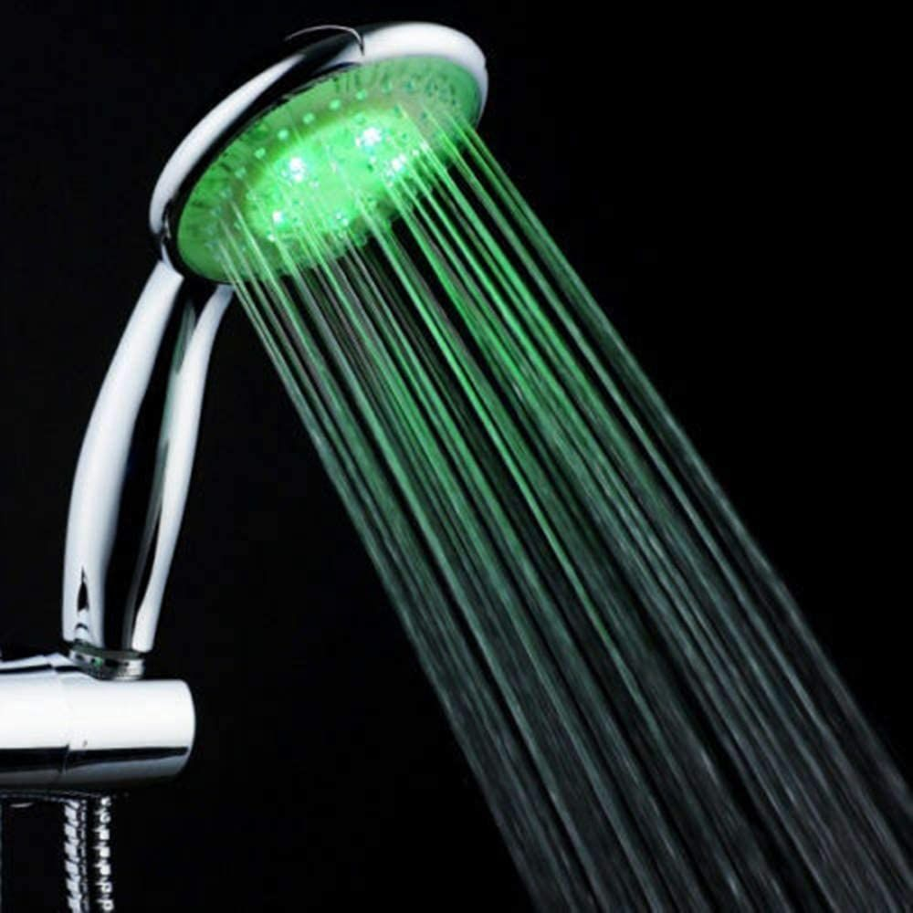 MiracleTH6395 Shower Head NEW Colorful Home Bathroom 7 LED Colors Changing Water Glow Light